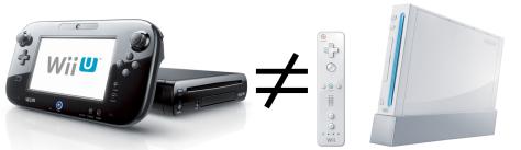 ¡Nintendo Wii U ≠ Nintendo Wii!